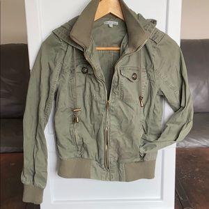 Army Green Zip up Jacket size medium